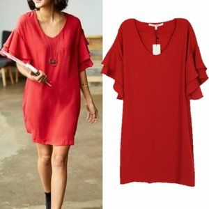 NWT Collective Concepts Red Bell Sleeve Dress S